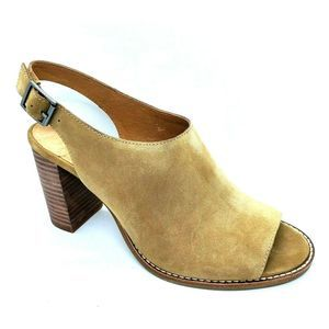 NIB Madewell The Cary Sandal Suede Faded Birch 10